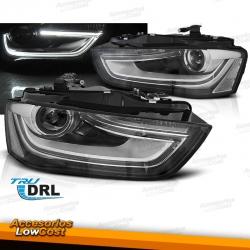 FAROS DELANTEROS CON LUZ DIURNA LED (TruDRL) PARA AUDI A4 B8 (11-15)