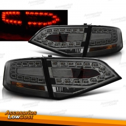 PILOTOS TRAS. LED A4, 07++- CRISTAL CLARO/NEGRO/LIM