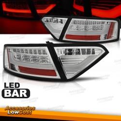 PILOTOS LED PARA AUDI A5 07-11, LIGHT BAR CROMO