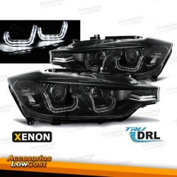 "BMW E92/E93 2006/2010 FAROS ""ANGEL EYES - LED DRL"" CROMADOS (APTOS XENON D1S)"