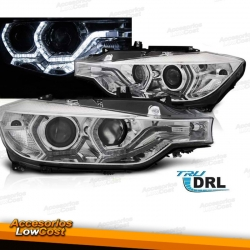 BMW F30/F31 10.2011/05.2015 FAROS ANGEL EYES LED DRL CROMADOS