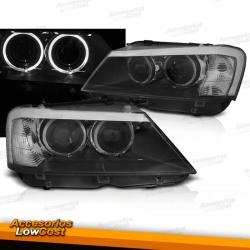 """BMW X3 (F25) 2010/07.2014 FAROS ANGEL EYES """"LED BLACK"""""""