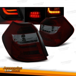 PILOTOS LED PARA BMW E87-E81 (2004-08/2007), LED BAR, ROJO AHUMADO