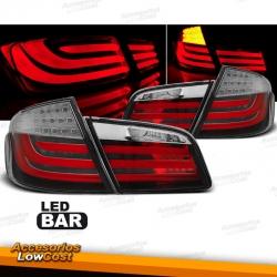 PILOTOS LED PARA BMW F10 LIMOUSINE (2010-07/2013), LED BAR, ROJO BLANCO