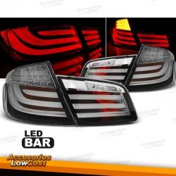 PILOTOS LED PARA BMW F10 LIMOUSINE (2010-07/2013), LED BAR, FONDO NEGRO