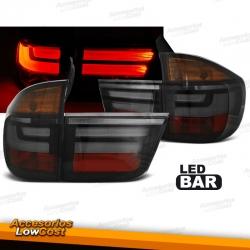 PILOTOS LED PARA BMW F10 LIMOUSINE (2010-07/2013), LED BAR, AHUMADOS