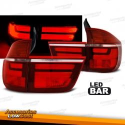 PILOTOS LED PARA BMW X5 E70 (07-10), LED BAR, AHUMADOS
