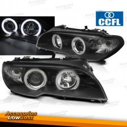 Faros Delanteros Ojos de Angel CCFL BMW Serie 3 E46 Coupe 03-06