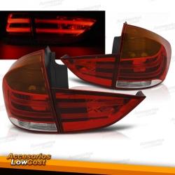 PILOTOS LED PARA BMW X1 E84 (10-09/07-12), ROJO-BLANCO