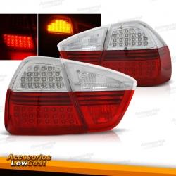 PILOTOS TRASEROS LED BMW E90 (05-08) BERLINA, ROJO BLANCO
