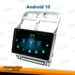 REPRODUCTOR MULTIMEDIA ANDROID 10 2DIN PARA PEUGEOT 307 (2005-2012)