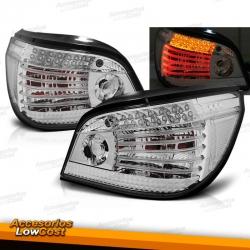 PILOTOS TRASEROS LED PARA BMW SERIE 5 E60 (03-07), CROMADOS
