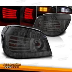 PILOTOS TRASEROS LED PARA BMW SERIE 5 E60 (03-07), AHUMADO