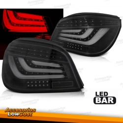 PILOTOS TRASEROS LED BAR PARA BMW SERIE 5 E60 (03-07), FONDO NEGRO