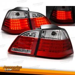 PILOTOS TRASEROS LED PARA BMW SERIE 5 E61 (03-07) TOURING, ROJO BLANCO