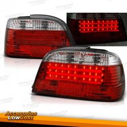 PILOTOS BMW E38, 94-01- MOLDURA LED- CRISTAL CLARO/ROJO-BLANCO