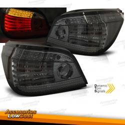 PILOTOS TRASEROS LED CON INTERMITENTES DINÁMICOS PARA BMW SERIE 5 E60 (03-07), AHUMADO