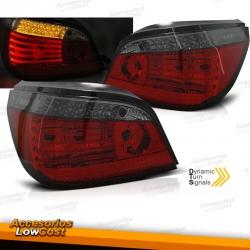 PILOTOS TRASEROS LED PARA BMW SERIE 5 E60 (03-07), ROJO-AHUMADO