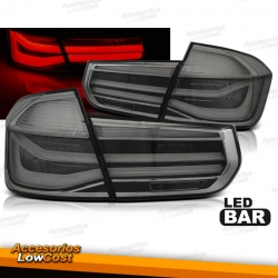 PILOTOS TRASEROS LED BAR PARA BMW SERIE 3 F30 (11-15) SEDAN, COLOR ROJO