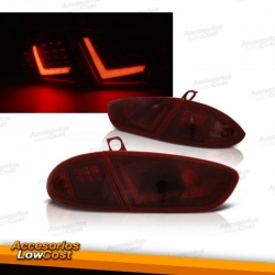 PILOTOS TRASEROS LED PARA SEAT LEON (09-12), COLOR ROJO
