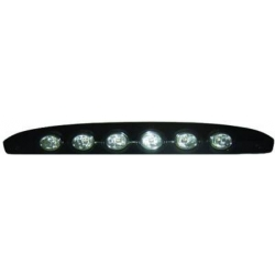 3 LUCES FRENADO SMART 07- LED CRISTAL CLARO/NEGRO