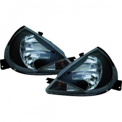 FAROS FORD KA, 96-++- COLOR NEGRO- H1/H7