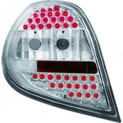 PILOTOS TRAS. CLIO, 05->->- LED- CRISTAL CLARO CROMADO