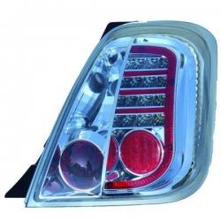 PILOTOS FIAT 500, 07->->- LED- CRISTAL CLARO CROMADO