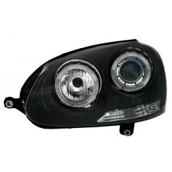 FAROS OJOS DE ANGEL PARA VW GOLF V 5 Y JETTA (03-) COLOR NEGRO