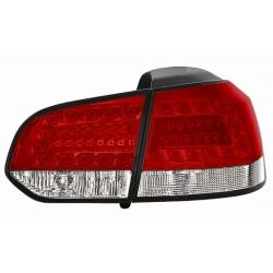 PILOTOS TRASEROS LED VW GOLF 6 VI.08+++.CRISTAL CLARO-CLARO-ROJO-BLANCO