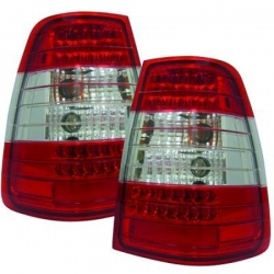 PILOTOS MERCEDES W124, 85-95 LED , SOLO KOMBI- CRISTAL CLARO/ROJO-BLANCO