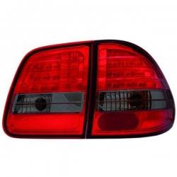 PILOTOS MERCEDES W210,99-02 - LED 4 PIEZAS- CRISTAL CLARO/ROJO-NEGRO- KOMBI