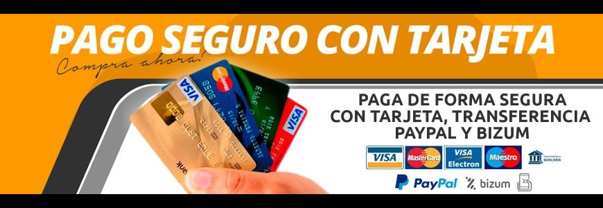 Pago seguro con tarjeta o transferencia